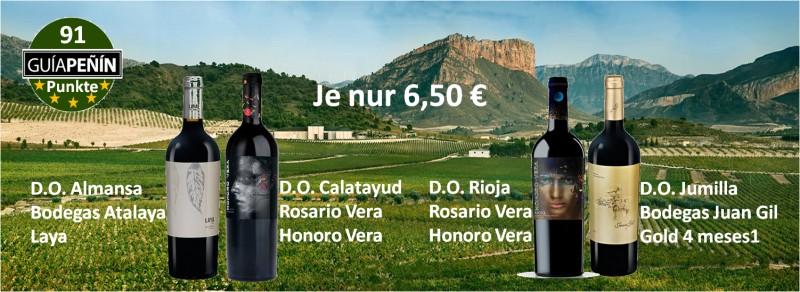 aus verschiedenen spanischen Weinbauregionen