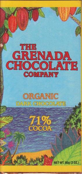Grenada Chocolate Company Dunkle organische Schokolade 71%