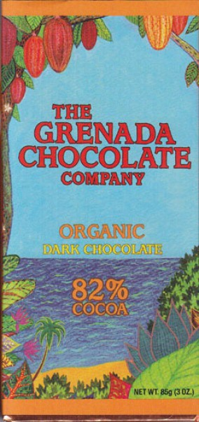 Grenada Chocolate Company Dunkle organische Schokolade 82 %