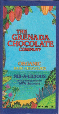 Grenada Chocolate Company Dunkle organische Schokolade 60 % Nib-a-licious